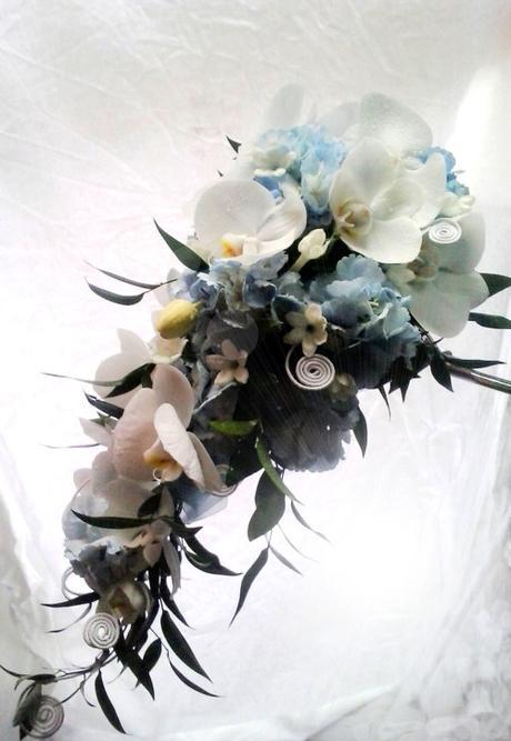 Svatební kytice převislá- tropické nebe - Obrázek č. 1