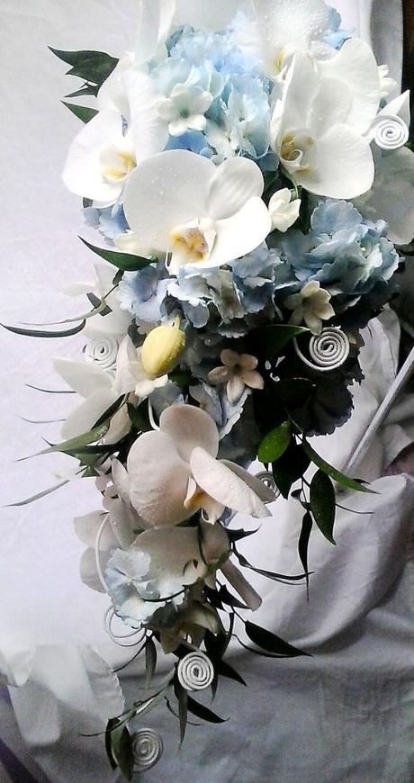 Svatební kytice převislá- tropické nebe - Obrázek č. 3