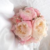 Svatební kytice- romantická pivoňková,