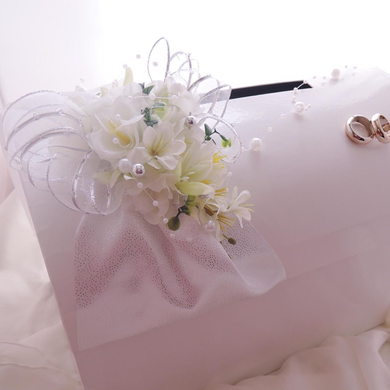 svatební pokladnička velká - stříbrná  pouze půjčení - Obrázek č. 1