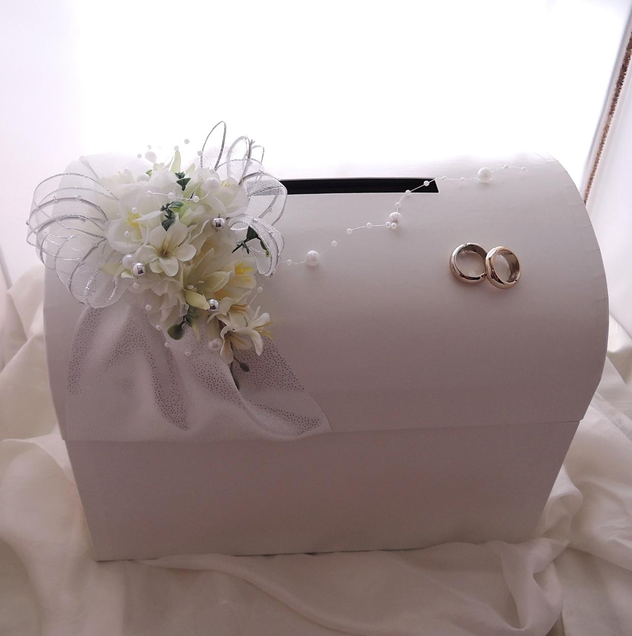 svatební pokladnička velká - stříbrná  pouze půjčení - Obrázek č. 3