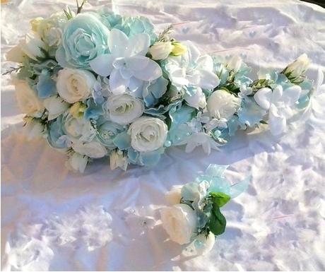 Svatební kytice- nebeská převislá (umělá) - Obrázek č. 1