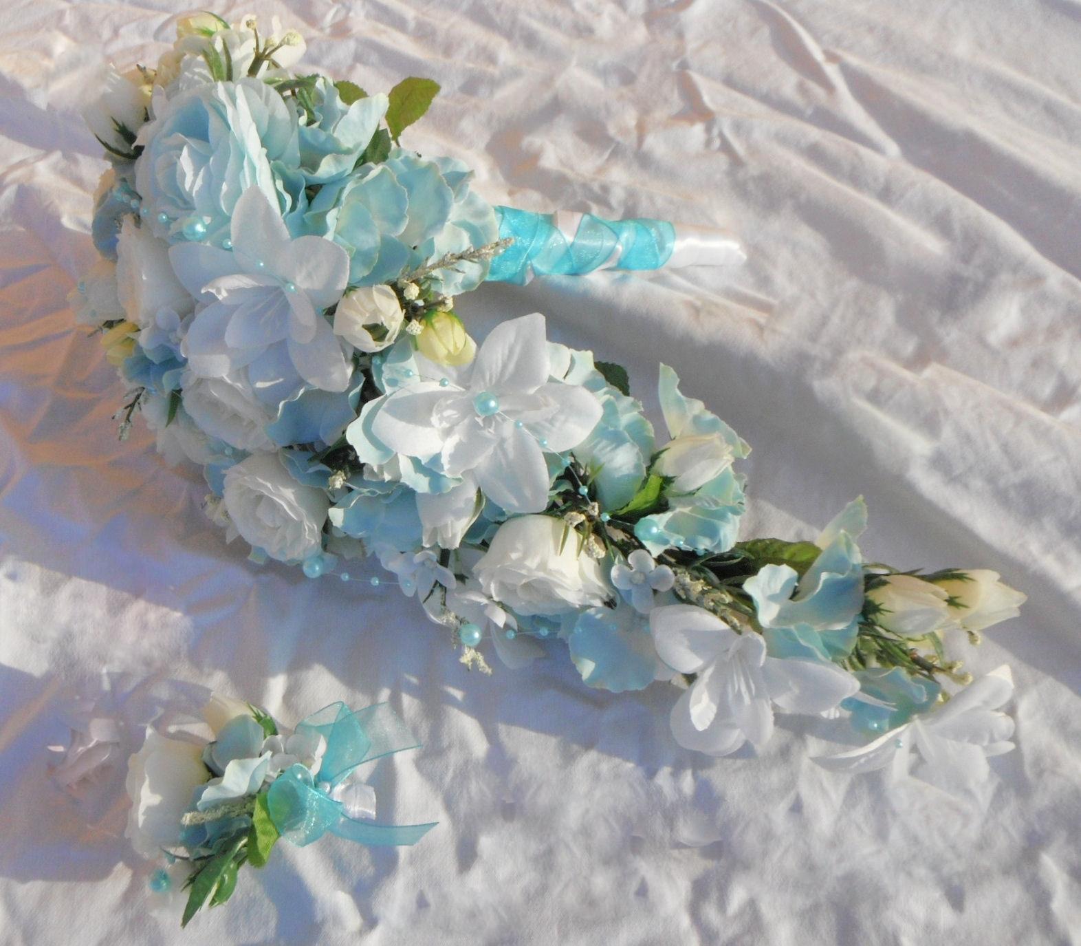 Svatební kytice- nebeská převislá (umělá) - Obrázek č. 3