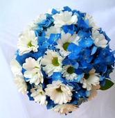 """Svatební kytice """"modrá louka"""","""