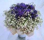 Svatební kytice - levandule v krajkách,