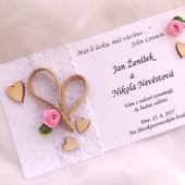 """svatební oznámení """"Srdeční záležitost 2"""","""