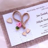 """svatební oznámení """"Srdeční záležitost 3"""","""