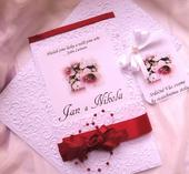 """svatební oznámení """"Kapsa 2"""","""