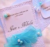 """svatební oznámení """"Kapsa 3"""","""