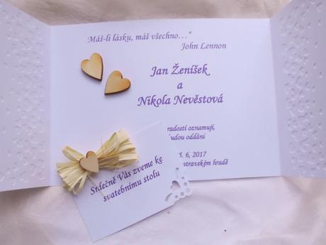 """svatební oznámení """"Srdíčka a oříšek"""" - Obrázek č. 3"""