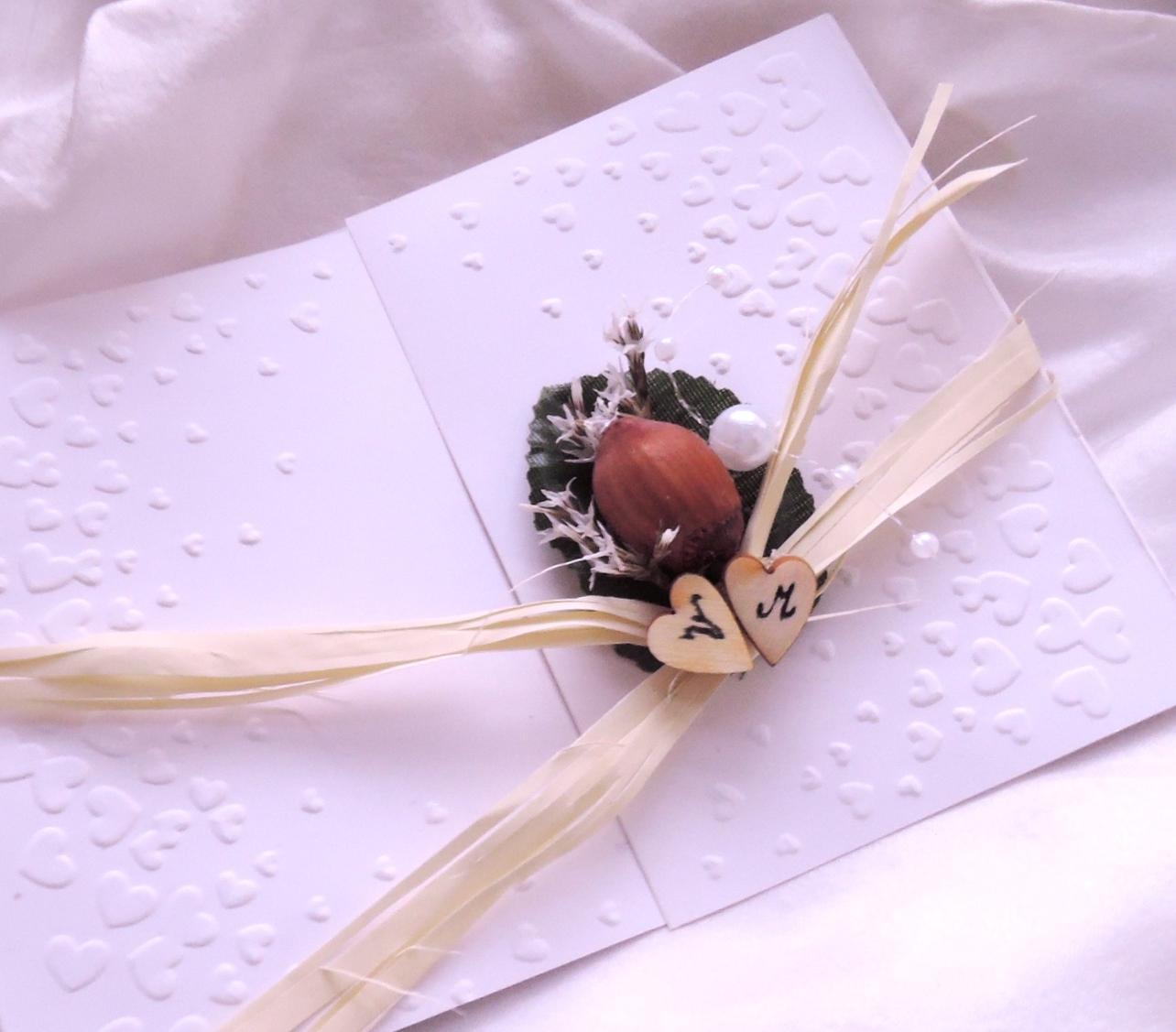 """svatební oznámení """"Srdíčka a oříšek"""" - Obrázek č. 1"""