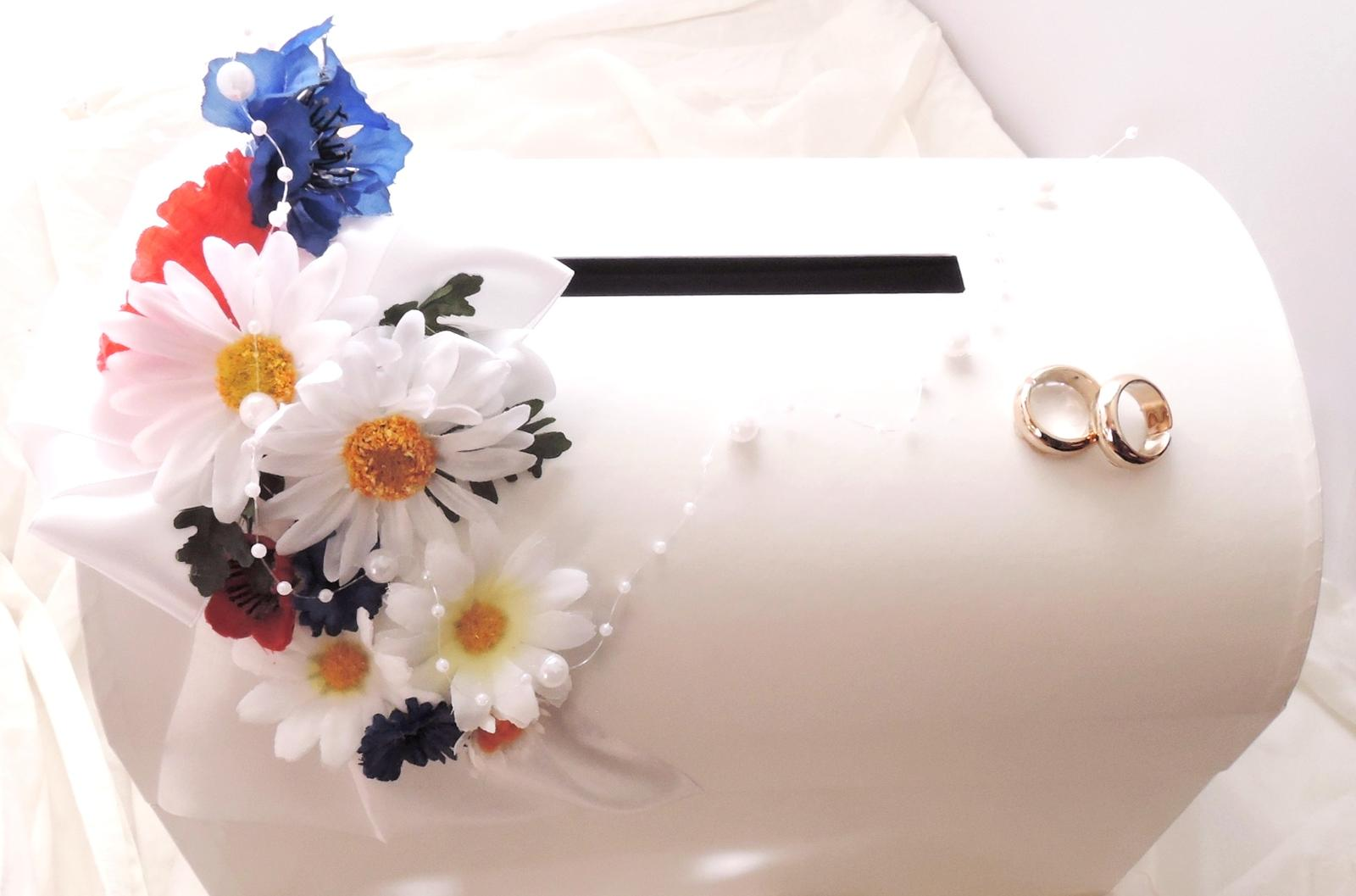 svatební pokladnička velká- luční - zapůjčení - Obrázek č. 3