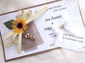 svatební oznámení - jutové 2,