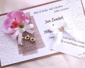 svatební oznámení - jutové 3,
