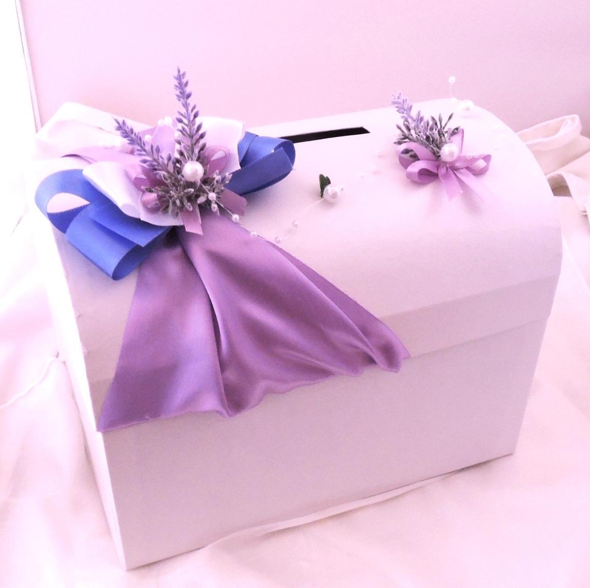 svatební pokladnička menší - levandulová - Obrázek č. 1