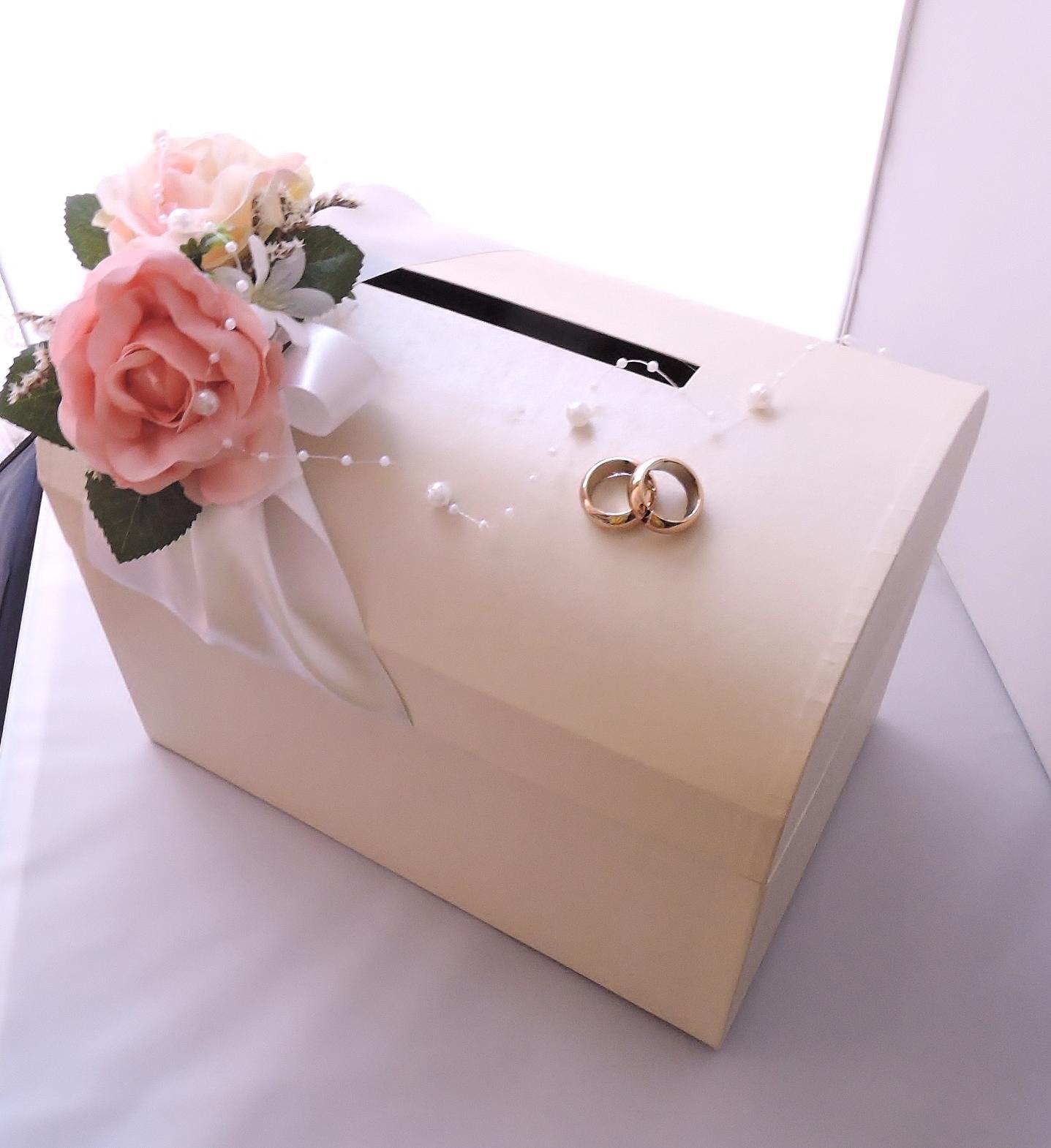 """svatební pokladnička velká """"krémová zapůjčení - Obrázek č. 2"""