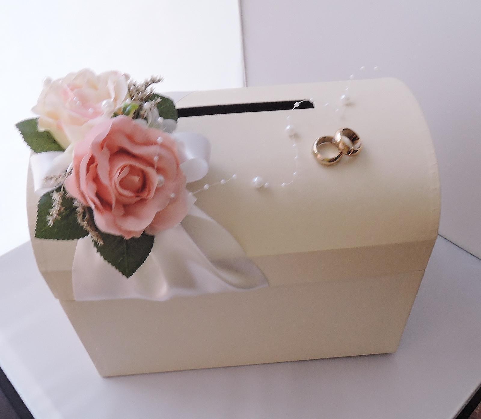 """svatební pokladnička velká """"krémová zapůjčení - Obrázek č. 3"""