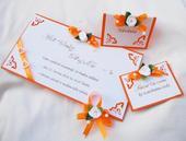 """sada """"Oranžové ornamenty"""","""