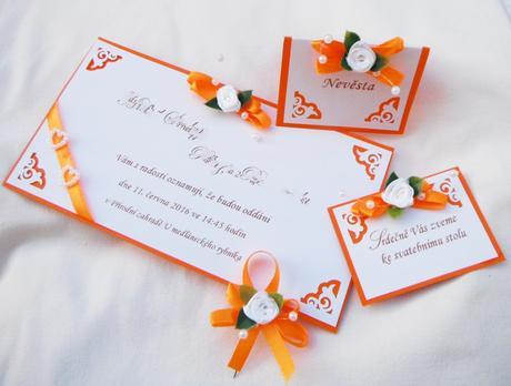 """sada """"Oranžové ornamenty"""" - Obrázek č. 1"""
