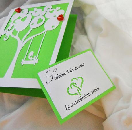 Pozvánka ke svatební mu stolu -dvojsrdíčka - Obrázek č. 1