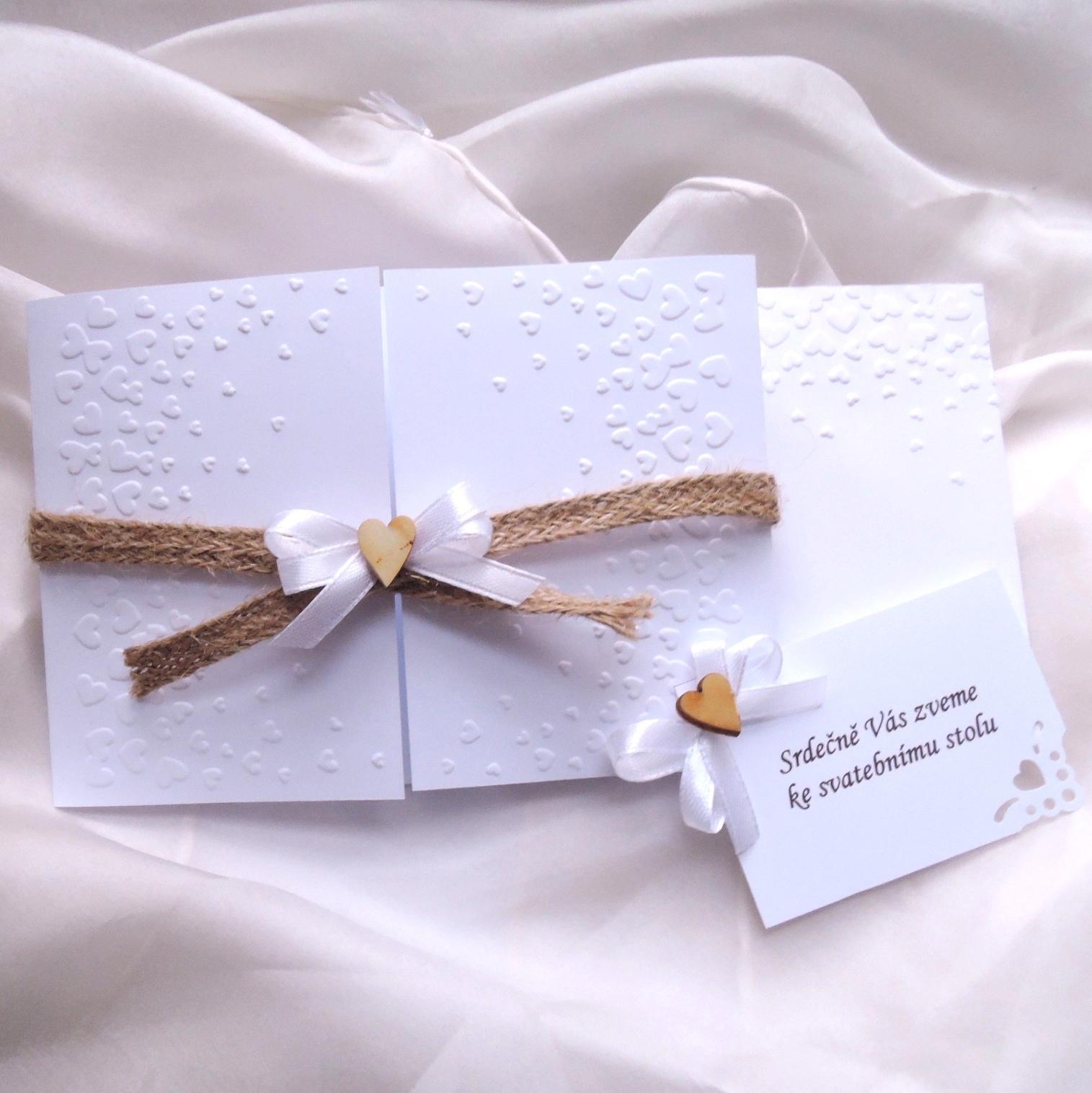 """svatební oznámení """"jutové 1"""" - Obrázek č. 1"""