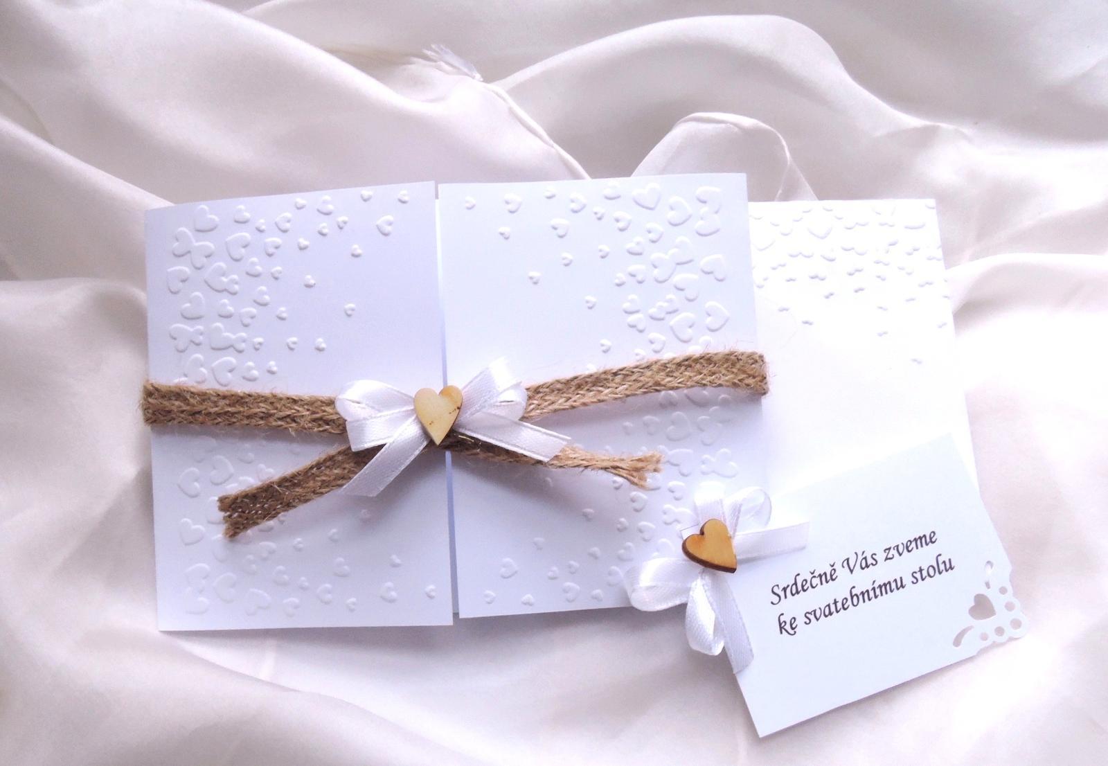 """svatební oznámení """"jutové 1"""" - Obrázek č. 2"""