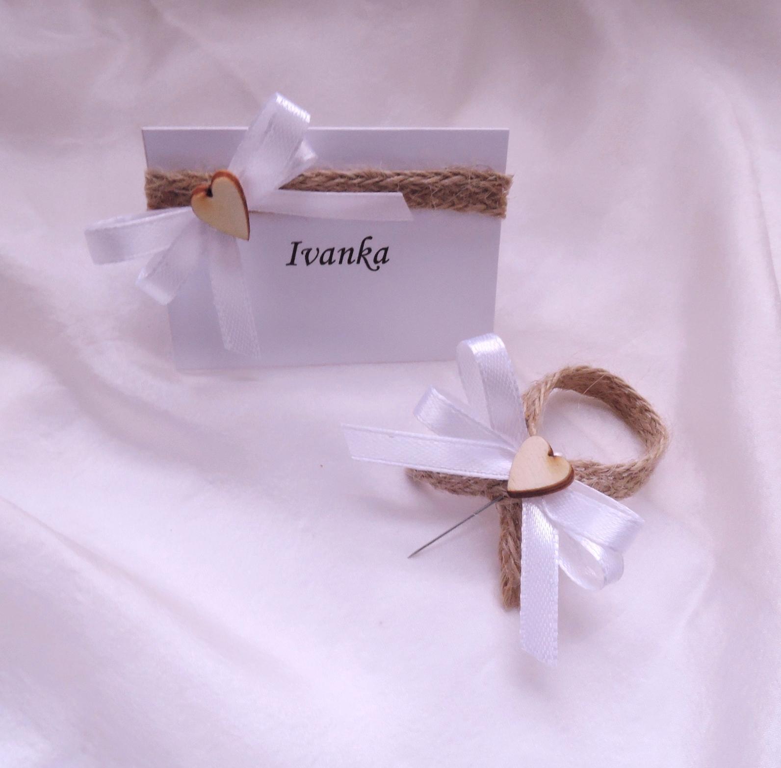 """svatební oznámení """"jutové 1"""" - Obrázek č. 3"""