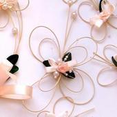 """Svatební vývazky - """"Motýlek 8"""" pro svědky a rodiče,"""