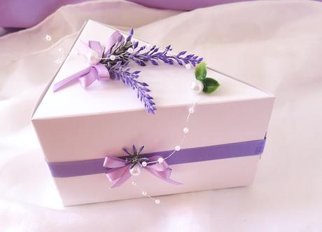 Krabička na výslužku nebo dort levandulová - Obrázek č. 1