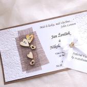 Svatební oznámení - jutové 1,