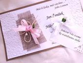 Svatební oznámení - jutové 4,