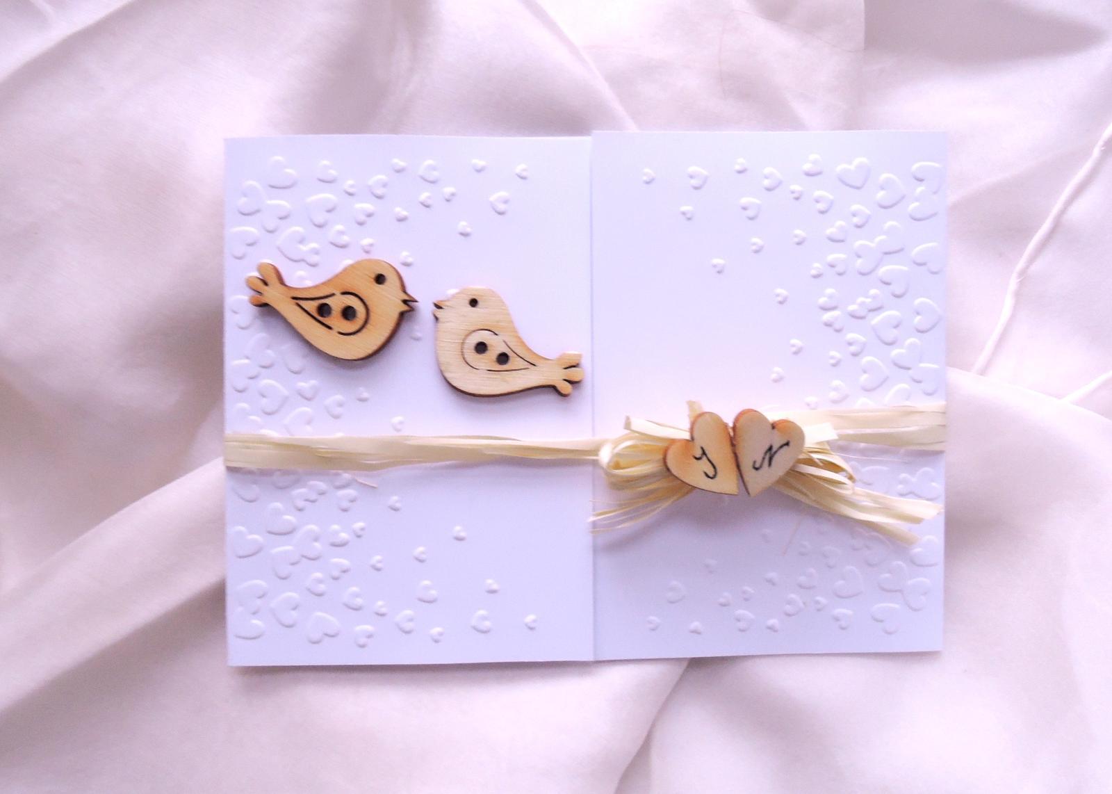 """svatební oznámení """"Ptáčci malí"""" - Obrázek č. 2"""