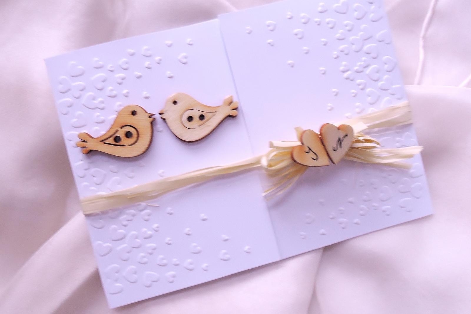 """svatební oznámení """"Ptáčci malí"""" - Obrázek č. 1"""