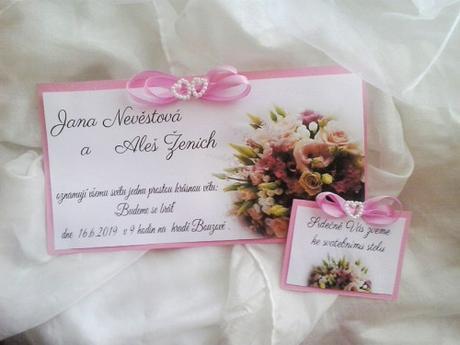 svatební oznámení- s kyticí1 - Obrázek č. 1