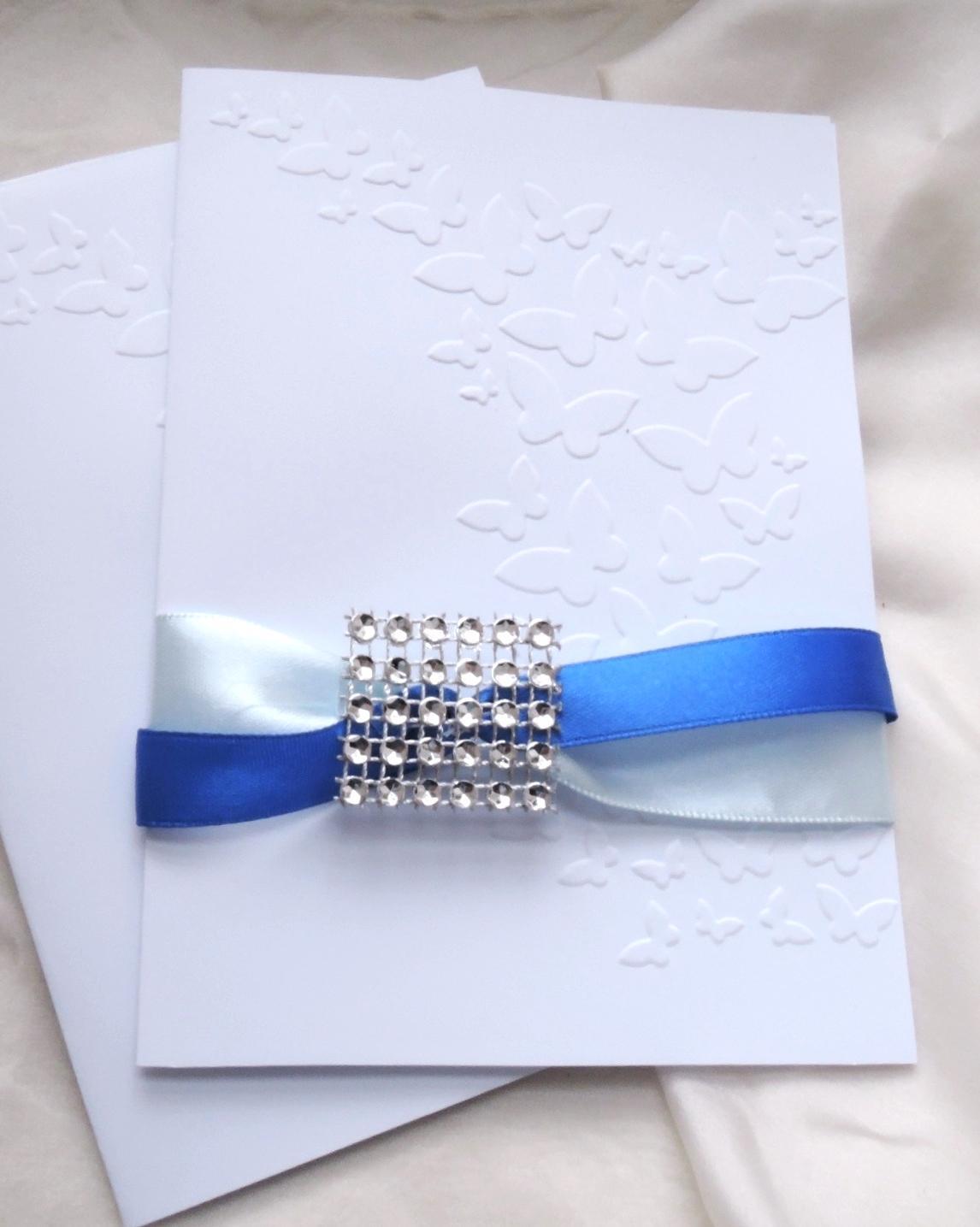 """svatební oznámení """"Elegant v modré"""" - Obrázek č. 1"""