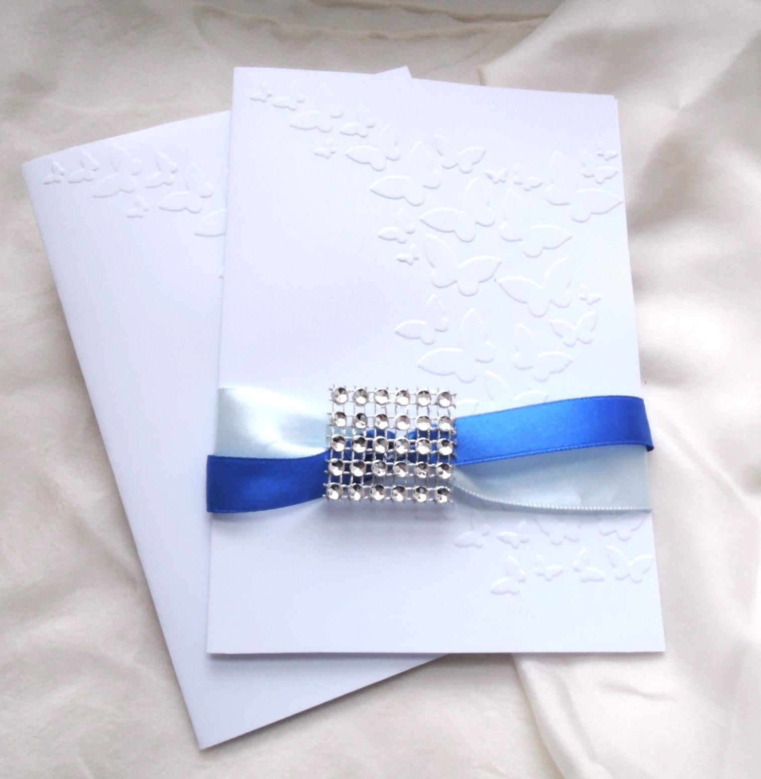 """svatební oznámení """"Elegant v modré"""" - Obrázek č. 2"""