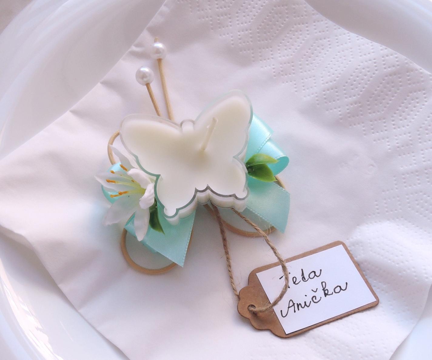 """dárek pro hosty - svícínek """"Motýlek"""" - Obrázek č. 2"""