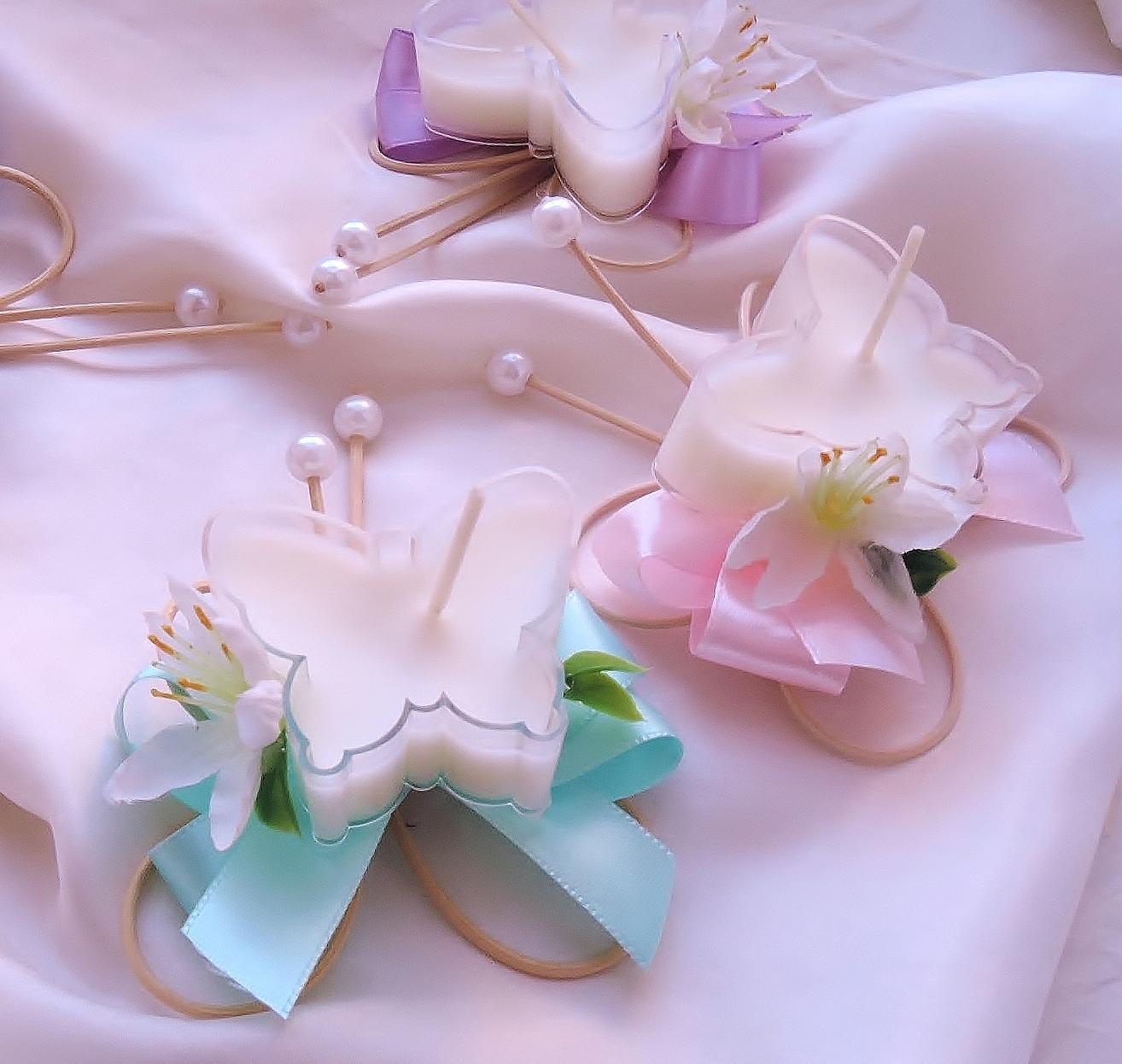 """dárek pro hosty - jmenovka - svícínek """"Motýlek"""" - Obrázek č. 1"""
