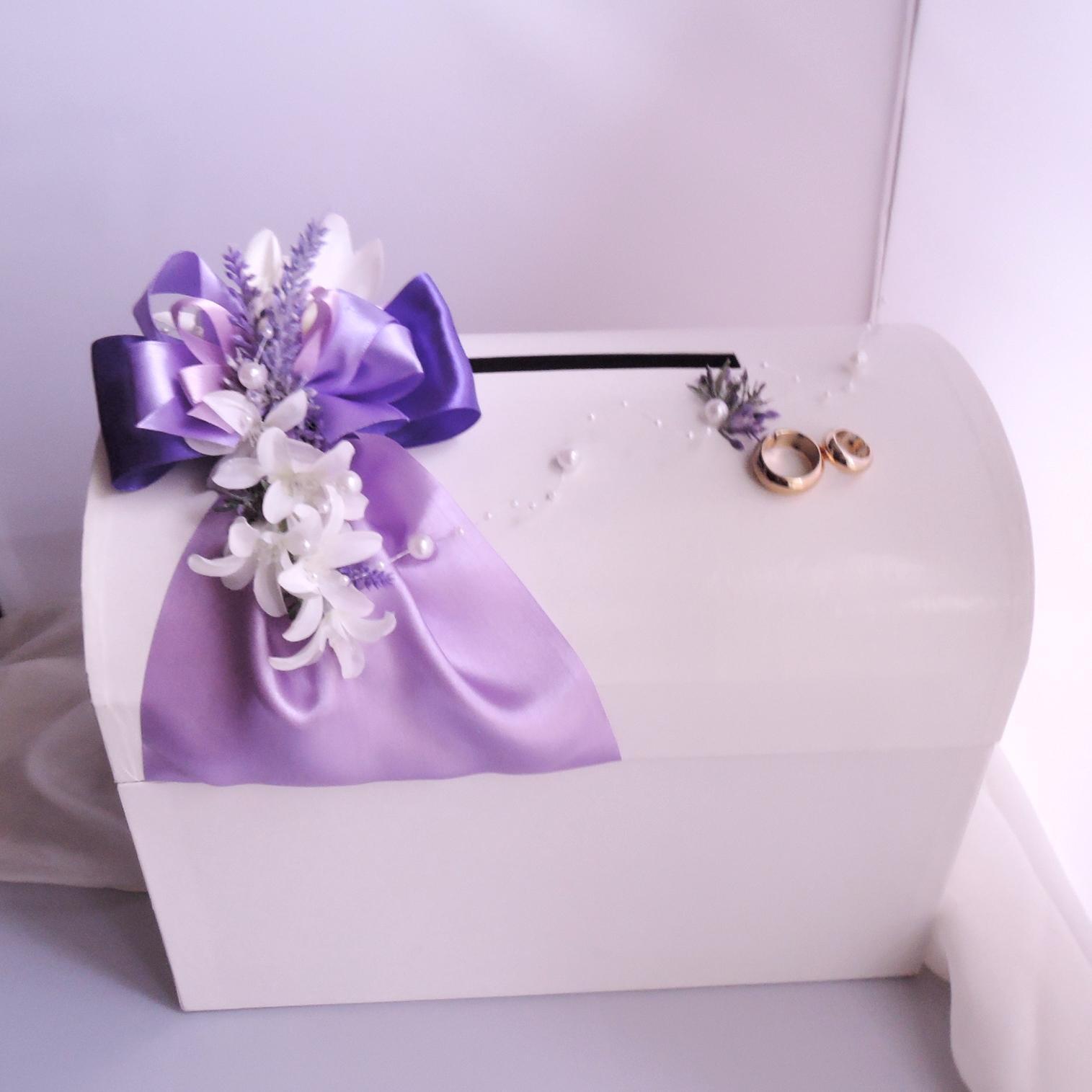 svatební pokladnička velká-levandulová - zapůjčení - Obrázek č. 3