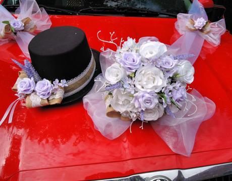 Sada na auto pro nevěstu a ženicha - Obrázek č. 1