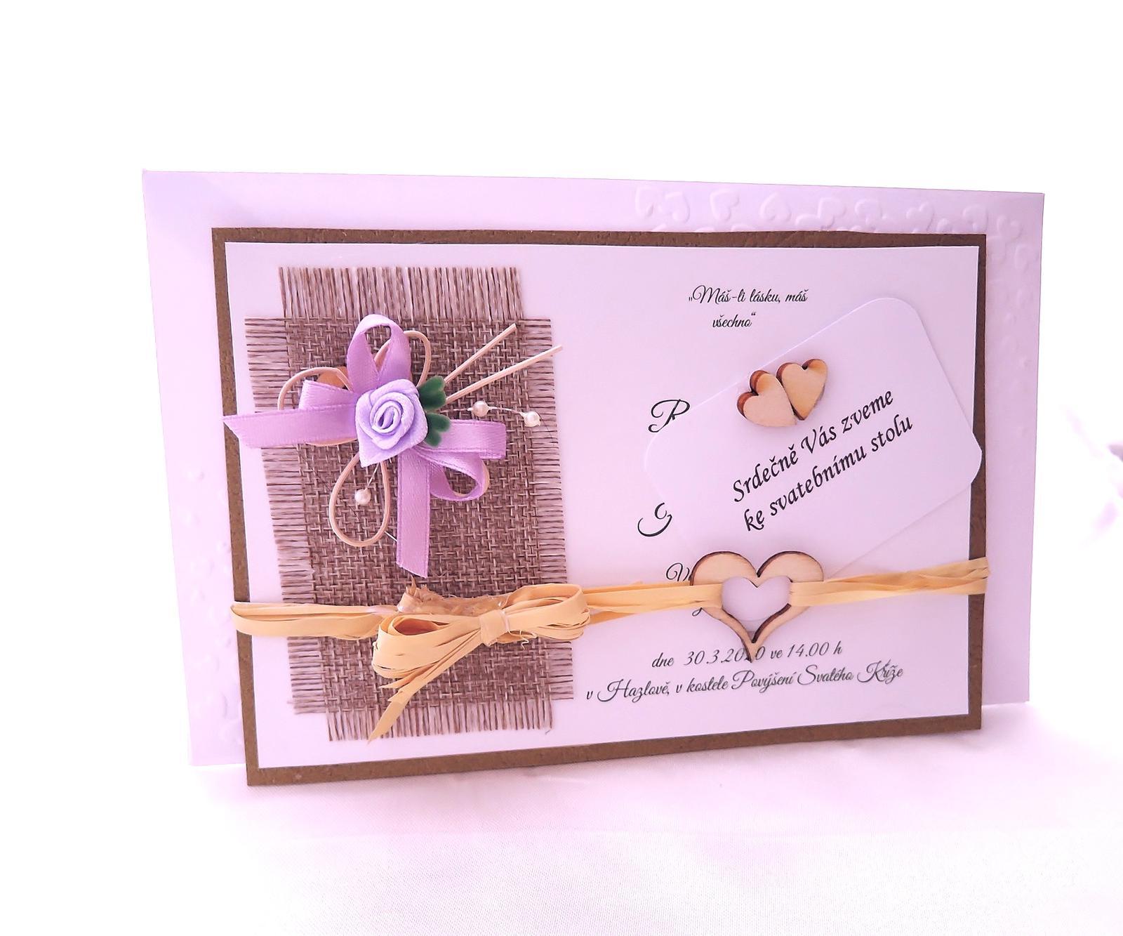 """přírodní svatební oznámení """"Motýlek"""" - Obrázek č. 1"""