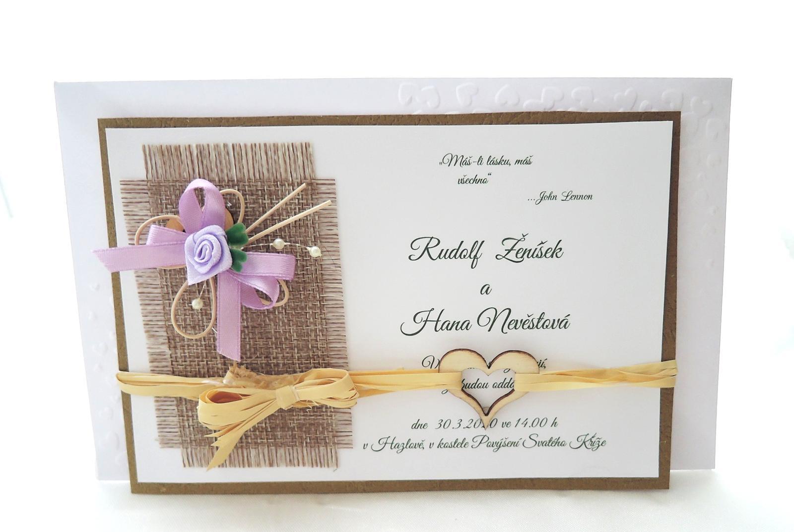 """přírodní svatební oznámení """"Motýlek"""" - Obrázek č. 2"""