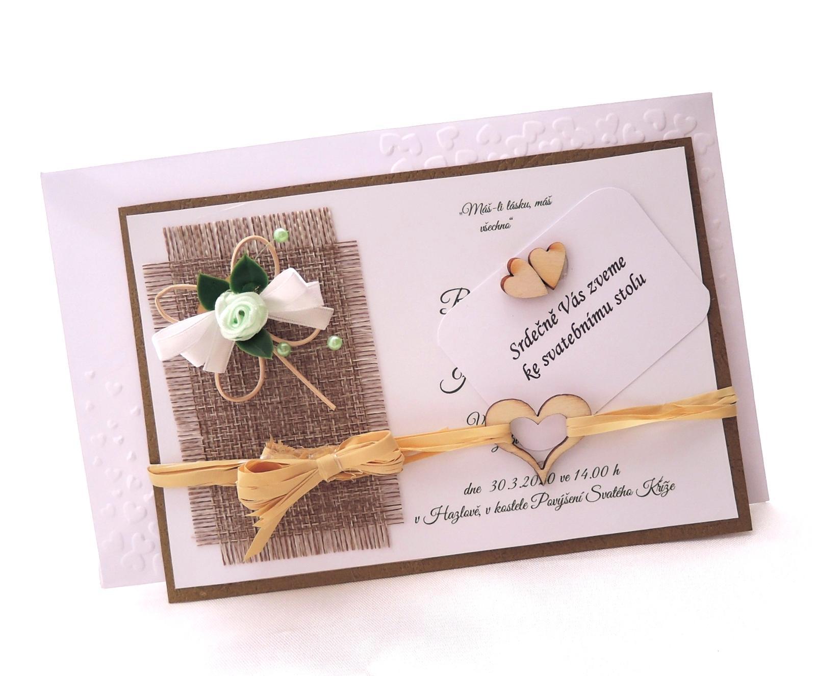 """přírodní svatební oznámení """"Čtyřlístek"""" - Obrázek č. 1"""
