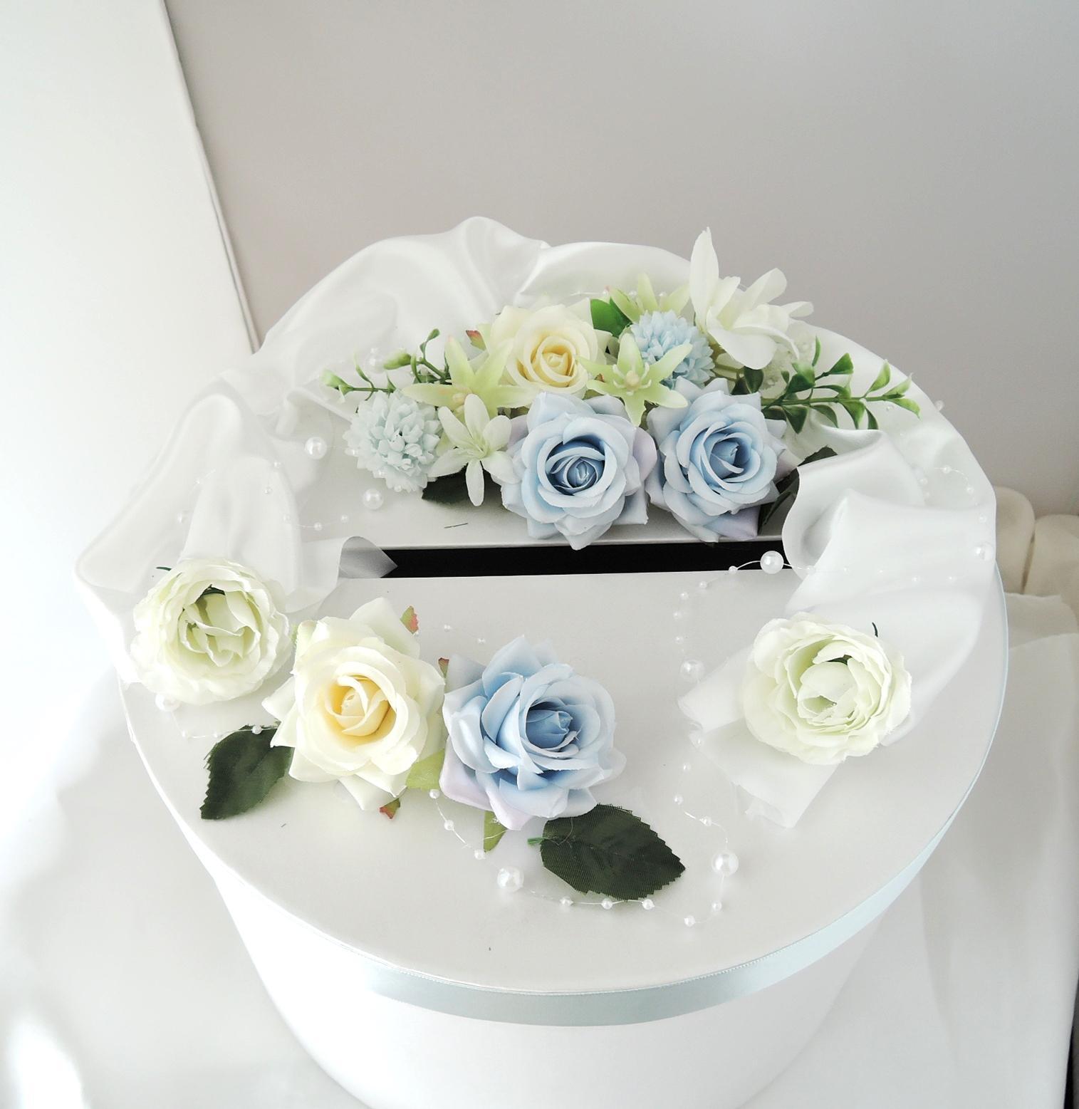 """svatební pokladnička """"Nejen modrá 1"""" - Obrázek č. 1"""