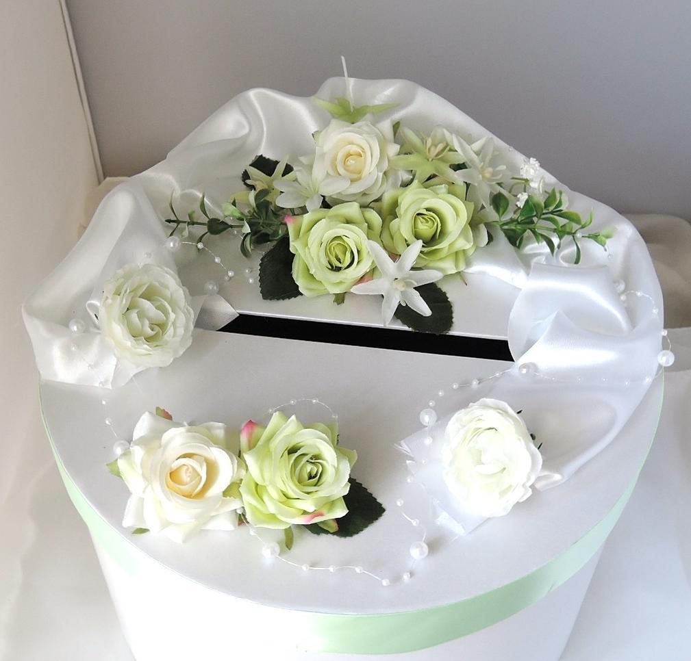 """svatební pokladnička """"Nejen zelená"""" - Obrázek č. 1"""