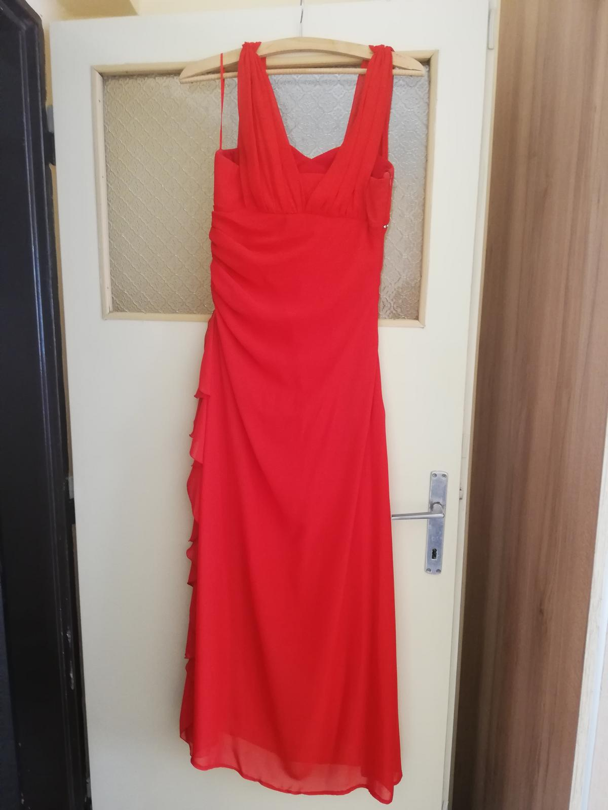 Červené šaty dlhé  - Obrázok č. 2