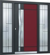 pôvodne sme chceli tieto dvere s jedným svetlíkom aj v tejto farebnej kombinácii, ale tá suma bola príšerne vysoká, dvere by nás vyšli viac ako všetky okná. No len ťažko som sa s nimi lúčila, možno raz, keď budem veľká ...