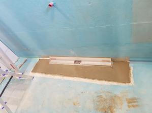 hydroizolácia a žlab v sprchovom kúte