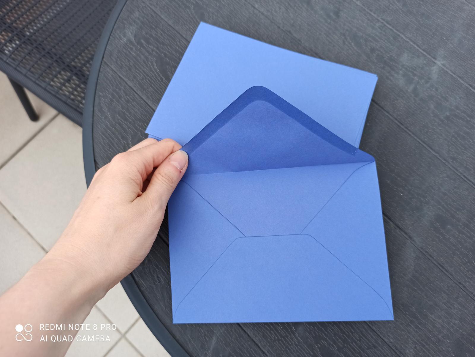 Modré obálky C6 - Obrázek č. 1