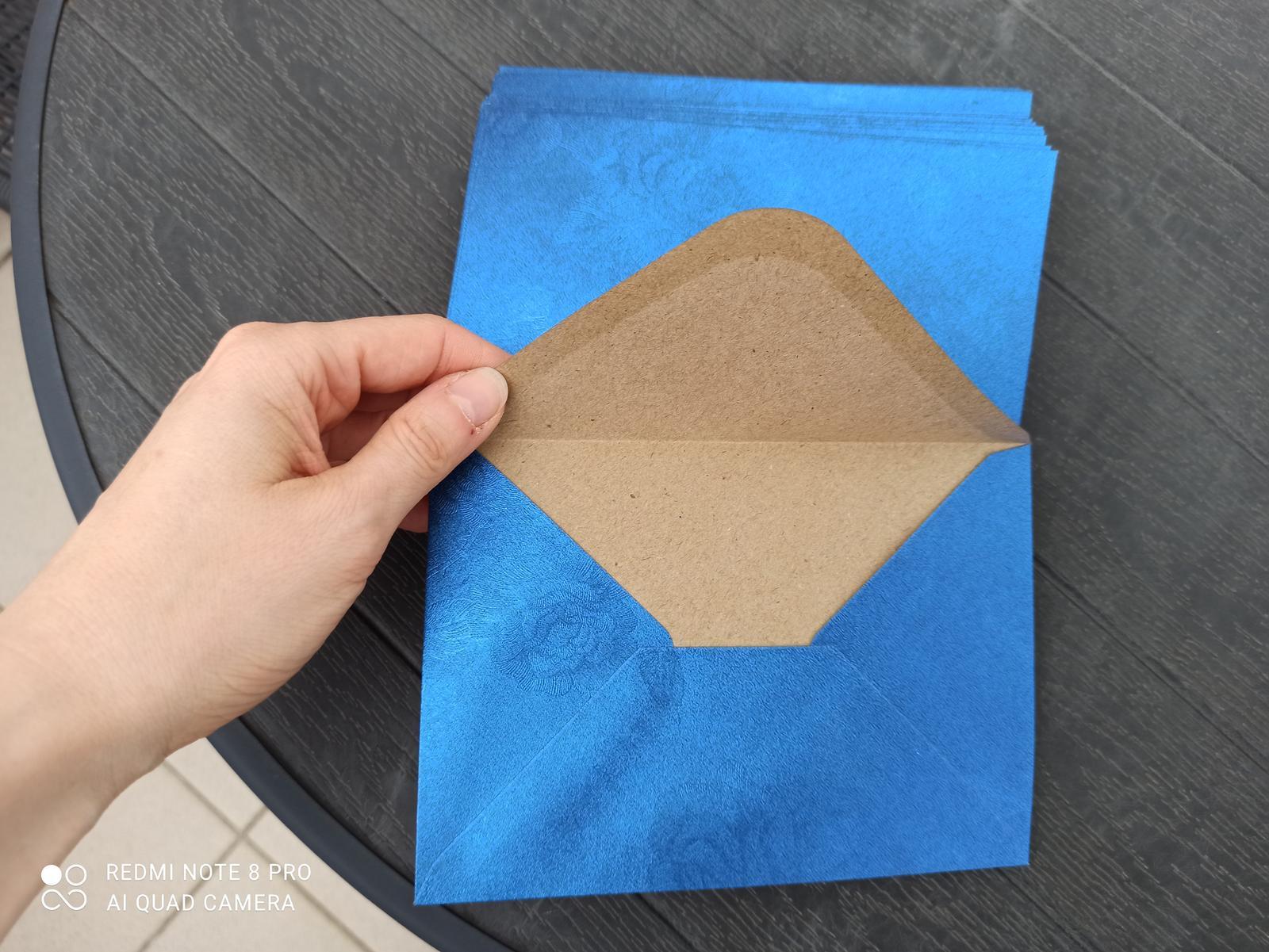 Modré metalické obálky C6 - Obrázek č. 1